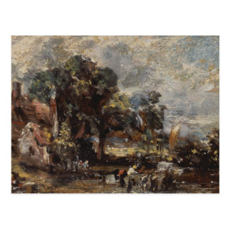 John Constable - Sketch for The Haywain Postcard