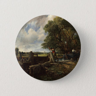 John Constable - The Lock - Countryside Landscape 2 Inch Round Button