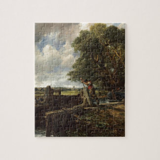 John Constable - The Lock - Countryside Landscape Jigsaw Puzzle