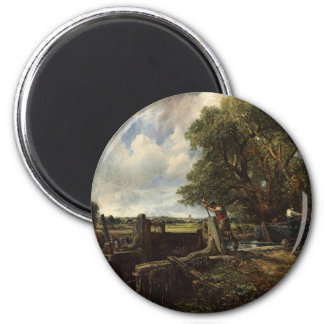 John Constable - The Lock - Countryside Landscape Magnet