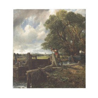 John Constable - The Lock - Countryside Landscape Notepad