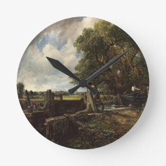 John Constable - The Lock - Countryside Landscape Round Clock