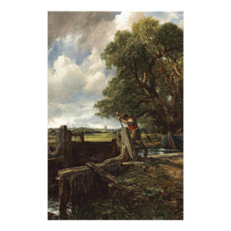 John Constable - The Lock - Countryside Landscape Stationery