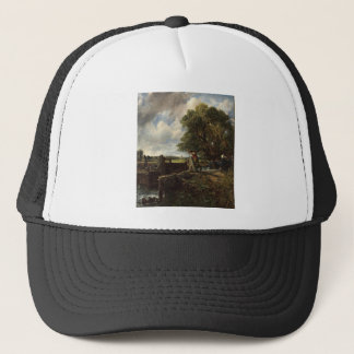 John Constable - The Lock - Countryside Landscape Trucker Hat