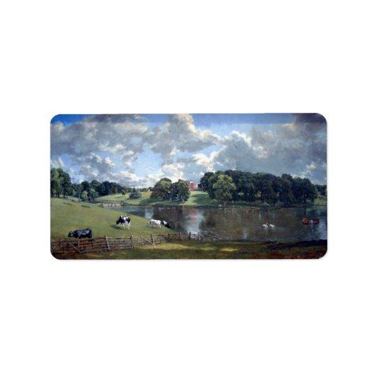 John Constable - Wivenhoe Park Label