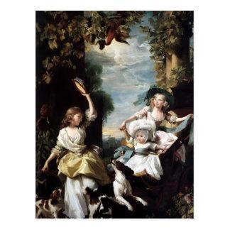 John Copley-Three youngest daughters of George III Postcard