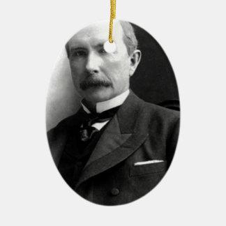 John D Rockefeller Ceramic Ornament