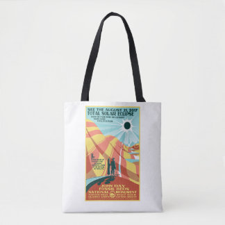 John Day Fossil Beds Solar Eclipse Tote Bag