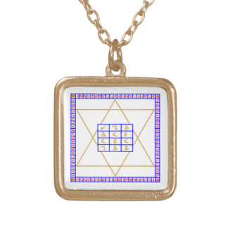 John Dee Holy Table Gold-Finished Chain Style A Gold Plated Necklace