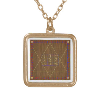 John Dee Holy Table Gold-Finished Chain Style B Gold Plated Necklace