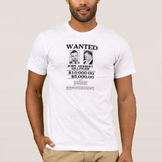 John Dillinger Wanted Poster T-Shirt