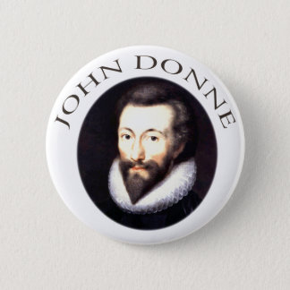 John Donne 2 Inch Round Button