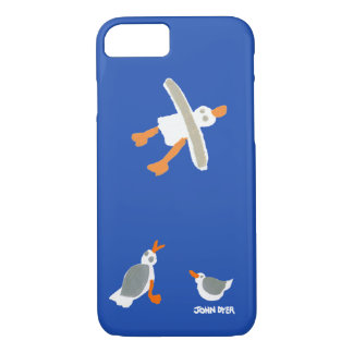 John Dyer blue smart phone case Seagulls Cornwall