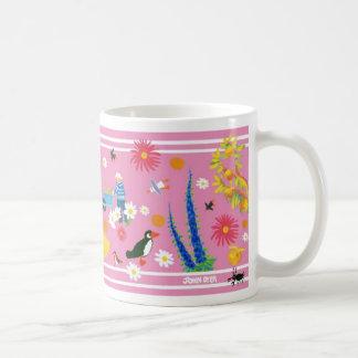 John Dyer Pink Art Mug - Summertime Garden