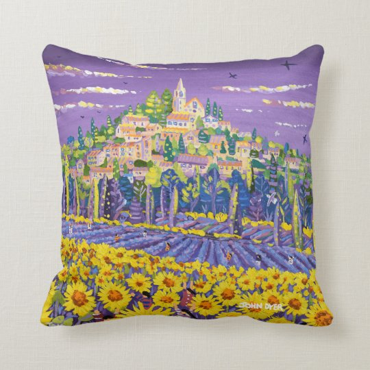 John Dyer Provence Sunflowers and Lavender cushion