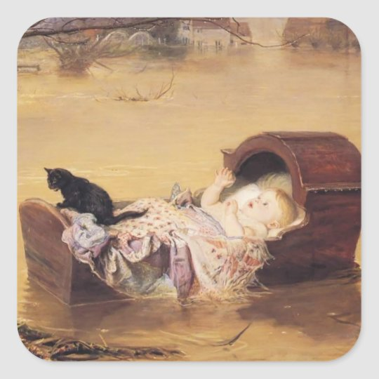 John Everett Millais- A flood Square Sticker