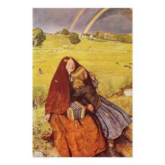 John Everett Millais Blind Girl Poster