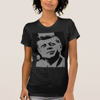 John F. Kennedy  black and grey silhouette T-Shirt