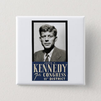 John F. Kennedy for Congress 2 Inch Square Button