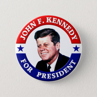 John F Kennedy For President 2 Inch Round Button