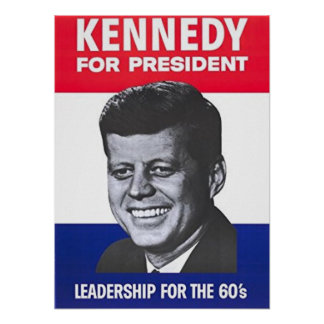 John F Kennedy For President Poster