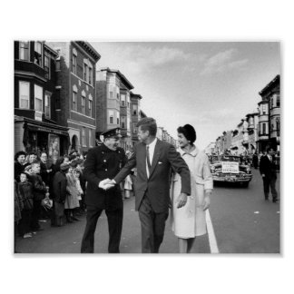 John F. Kennedy in East Boston Poster
