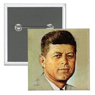 John F. Kennedy IN MEMORIAM 2 2 Inch Square Button