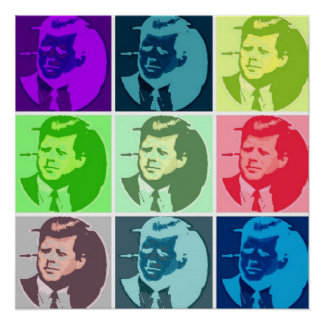 John F Kennedy/JFK  Pop Art Poster