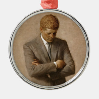 John F. Kennedy Official White House Portrait Silver-Colored Round Ornament