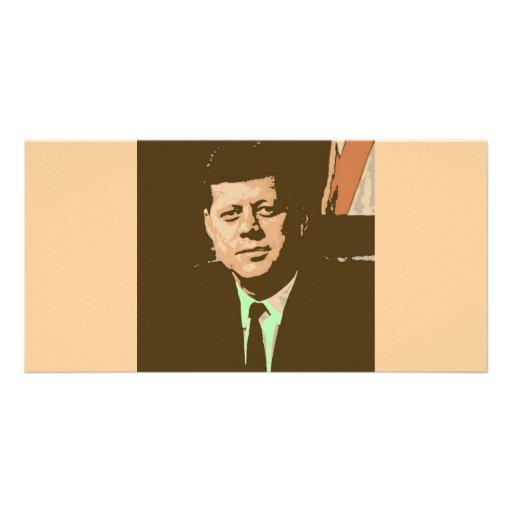 John F Kennedy Custom Photo Card