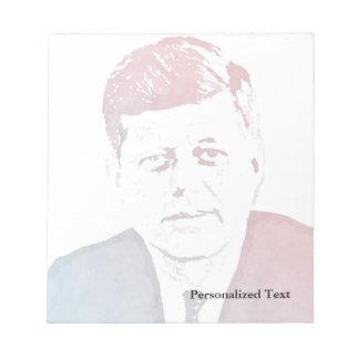 John F. Kennedy Pop Art Portrait Notepad