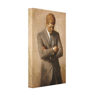 John F. Kennedy Portrait Canvas Print