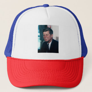 John F. Kennedy Red, White, and Blue Trucker Hat