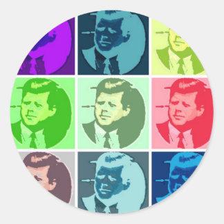 John F Kennedy Round Sticker