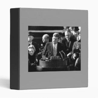 John F Kennedy Vinyl Binder