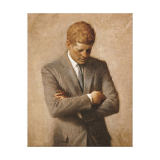 John Fitzgerald Kennedy - Official Portrait Canvas Print