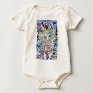john fitzgerald kennedy - watercolor portrait.1 baby bodysuit