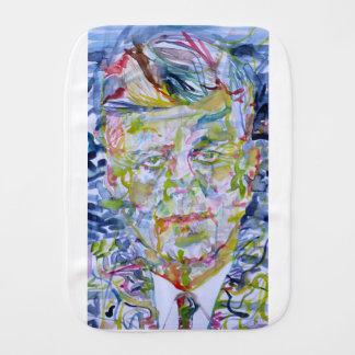 john fitzgerald kennedy - watercolor portrait.1 burp cloth