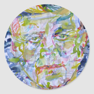 john fitzgerald kennedy - watercolor portrait.1 classic round sticker