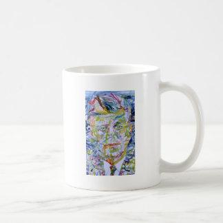 john fitzgerald kennedy - watercolor portrait.1 coffee mug