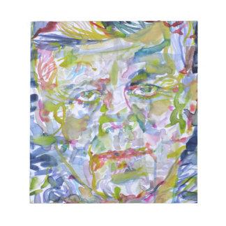john fitzgerald kennedy - watercolor portrait.1 notepad