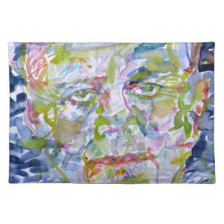 john fitzgerald kennedy - watercolor portrait.1 placemat