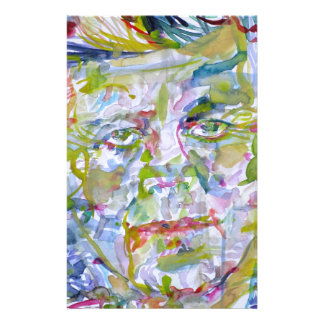 john fitzgerald kennedy - watercolor portrait.1 stationery