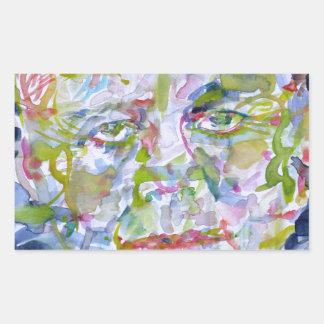 john fitzgerald kennedy - watercolor portrait.1 sticker