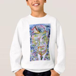 john fitzgerald kennedy - watercolor portrait.1 sweatshirt