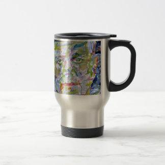 john fitzgerald kennedy - watercolor portrait.1 travel mug