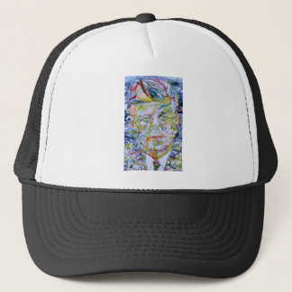 john fitzgerald kennedy - watercolor portrait.1 trucker hat