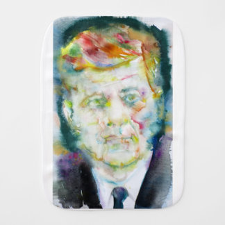 john fitzgerald kennedy - watercolor portrait.2 burp cloth