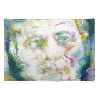 john fitzgerald kennedy - watercolor portrait.2 placemat