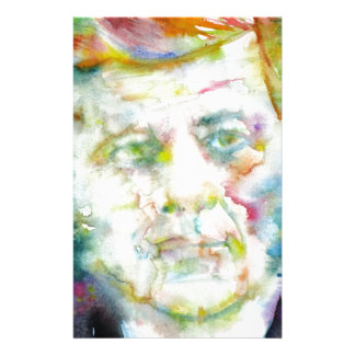 john fitzgerald kennedy - watercolor portrait.2 stationery